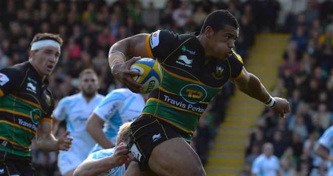 Luther Burrell: Scored two of Northampton's five tries