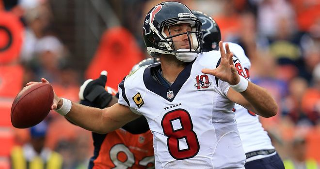 Matt Schaub: impressive for Houston