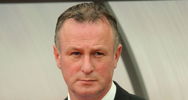 Michael O'Neill: The Northern Ireland boss was pleased with the performance of Jonny Evans