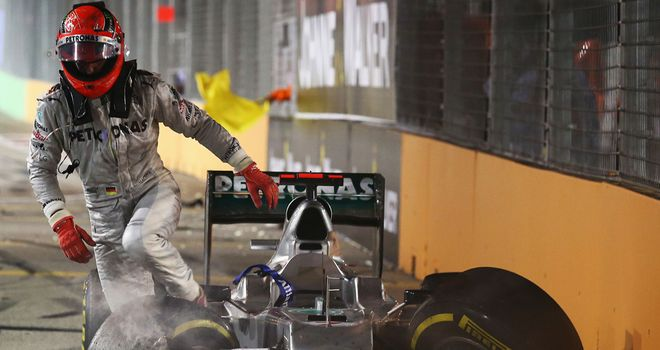 Schumacher, who faces a grid penalty in Suzuka after crashing out of the Singapore GP, has endured a troubled couple of weeks