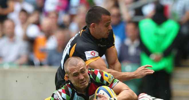 Mike Brown: Returns from international duty with England to start at full-back for Harlequins