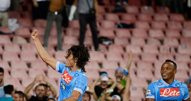 Edinson Cavani: Hat-trick for Napoli