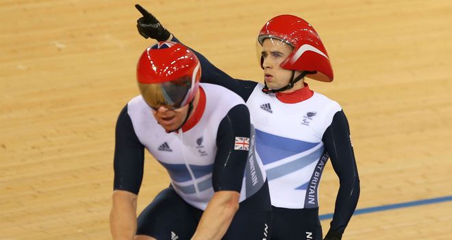 Neil Fachie: celebrates taking gold in one-kilometre tandem time-trial