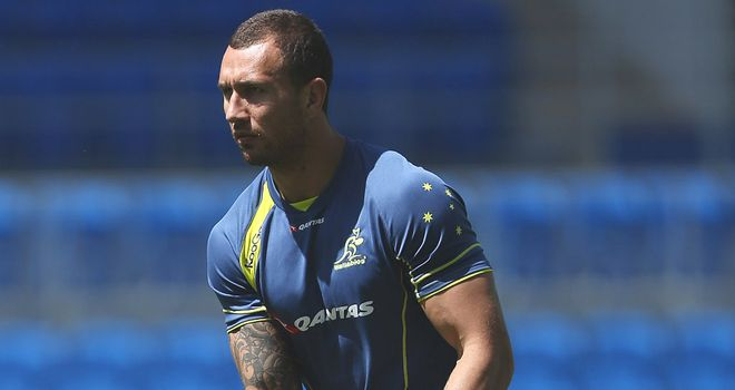 Quade Cooper: Ruled out of the rest of the Rugby Championship