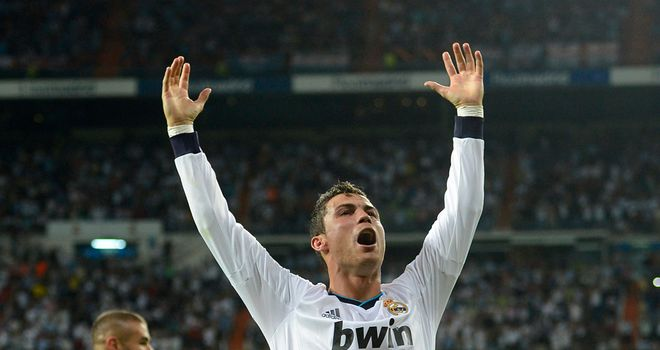 Cristiano Ronaldo: Milks the applause as Real Madrid beat Manchester City 3-2