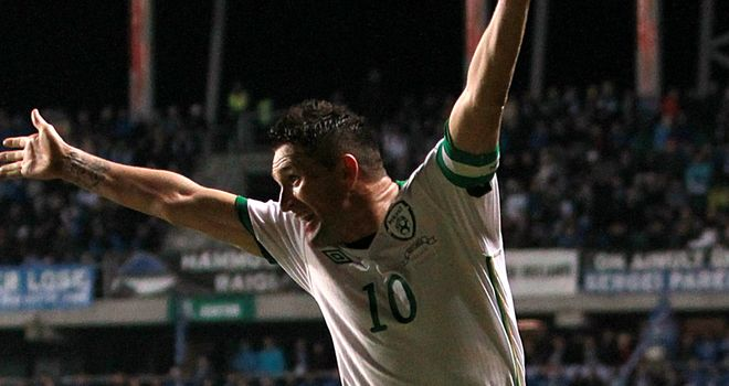 Robbie Keane: Scored a late equaliser for Republic of Ireland in Kazakhstan