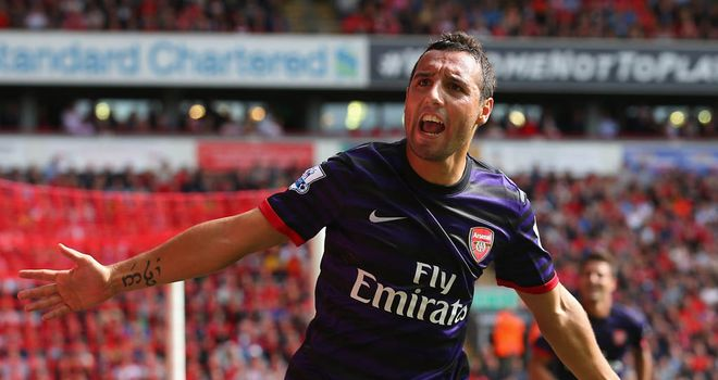 Cazorla: the Spaniard has impressed during his early games for Arsenal