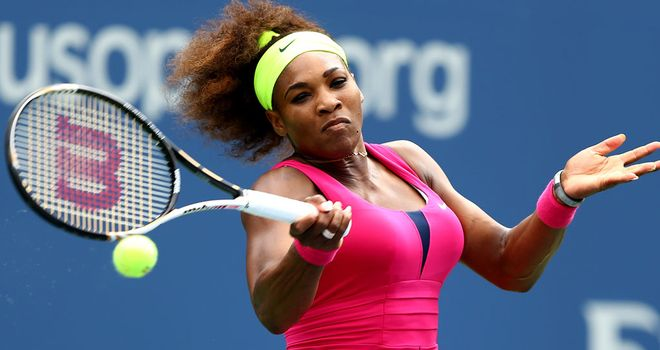 Serena Williams: Eased into the quarter-finals of the US Open
