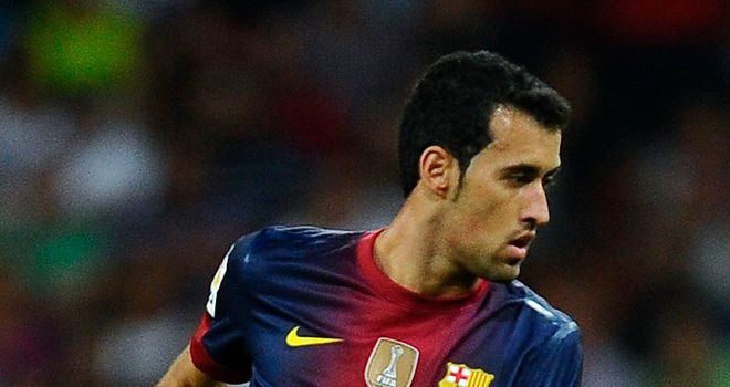 Sergio Busquets: Set to miss Barcelona's Champions League double-header with Celtic