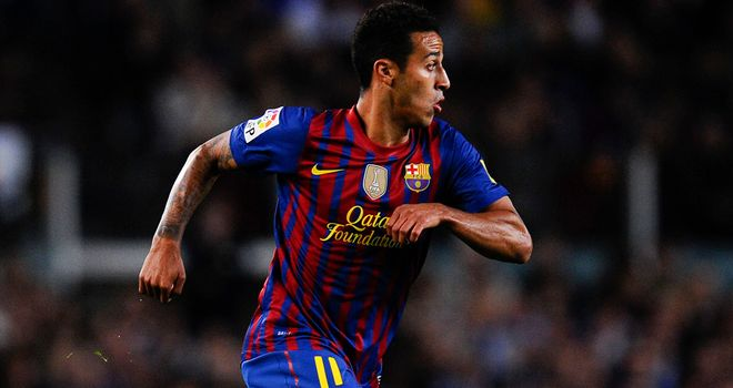 Thiago Alcantara: Barcelona midfielder has been ruled out for eight weeks with a knee injury