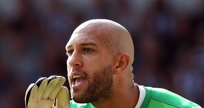 Tim Howard: Insists no-one deserves an England cap more than team-mate Leon Osman