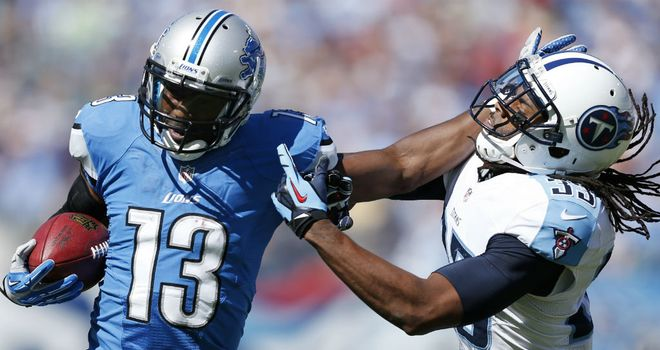 Nate Burleson: scored a touchdown for Detroit, though it wasn't enough for the Lions