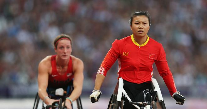 Wenju Liu of China wins gold ahead of bronze medallist Tatyana Mcfadden
