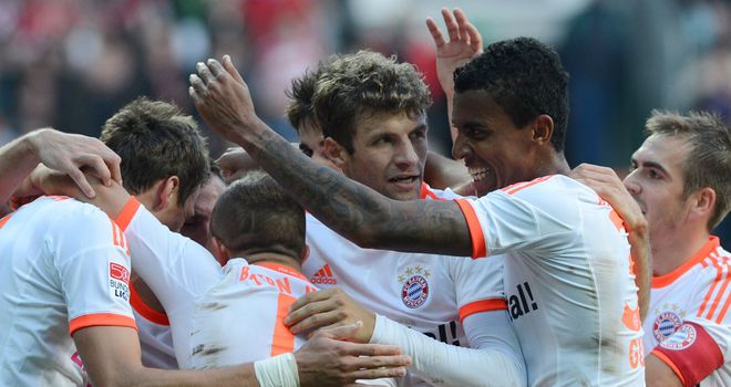 Mandzukic: Celebrates his goal for Bayern