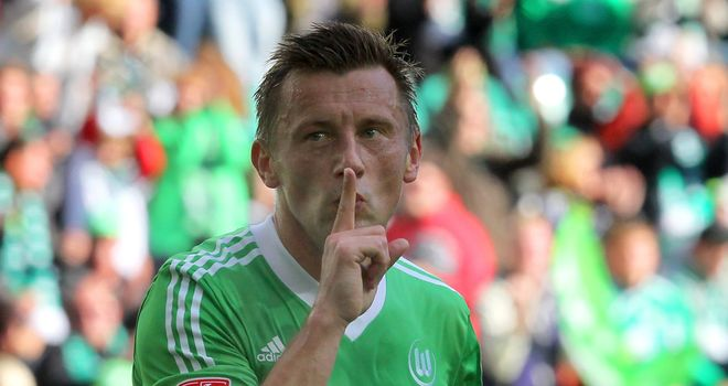 Ivica Olic celebrates his equaliser