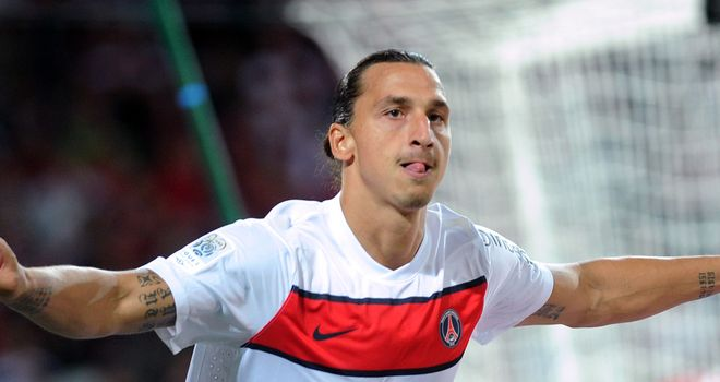 Zlatan Ibrahimovic: Scored twice as Paris St Germain won for the first time this season at Lille