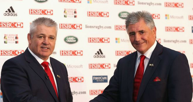 Warren Gatland (left): preferred candidate for the job, according to tour manager Andy Irvine