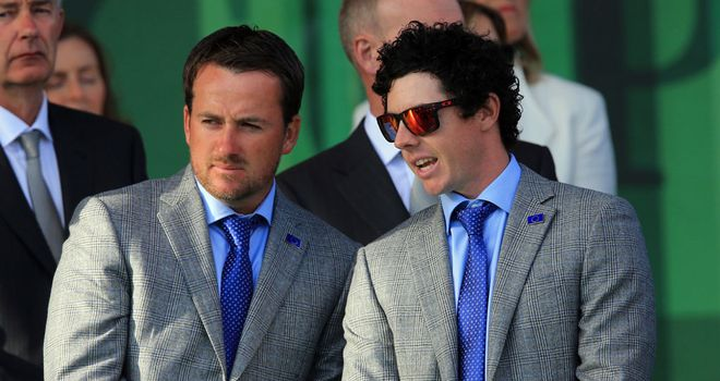 Graeme McDowell and Rory McIlroy will lead out for Europe on Friday morning