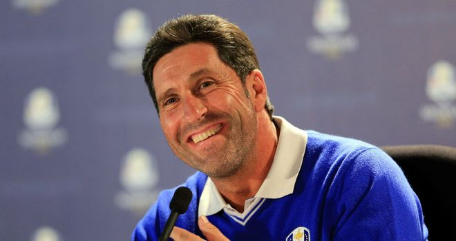 Jose Maria Olazabal: Looking to keep his players fresh ahead of Friday's action at Medinah
