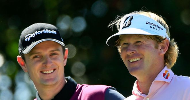 Justin Rose (L) and Brandt Snedeker (R) both reached new highs in the world rankings this week
