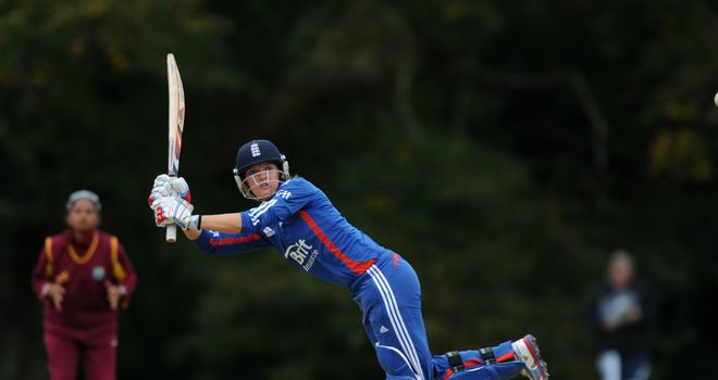 Sarah Taylor: England number three hit four boundaries in her innings of 34 off 30 balls