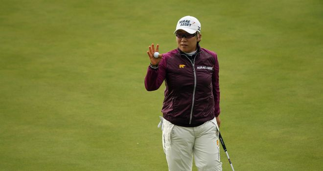 Jiyai Shin: rallied with hat-trick of birdies from the 11th during third round