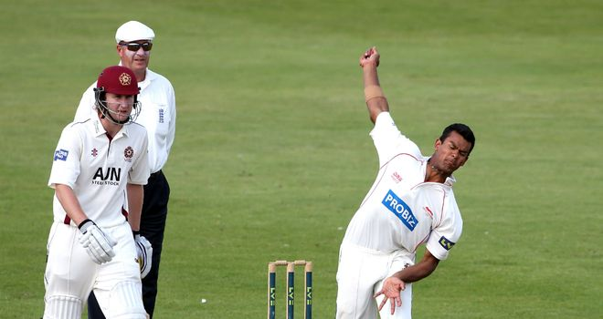 Shiv Thakor (right): Leicestershire all-rounder averaged 61 with the bat in six championship appearances in 2012