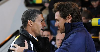Chris Hughton and Andre Villas-Boas: Set to lock horns again