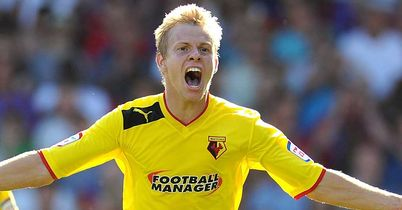 Matej Vydra: Double strike for Watford