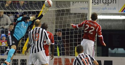 Parkin: Scored St Mirren's first goal at Pittodrie