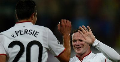 Wayne Rooney: Laid on Robin van Persie's match-winning double against Cluj