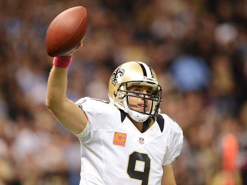 Drew Brees: Set a new NFL record