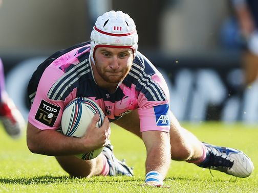 Remy Bonfils touches down for Stade Francais