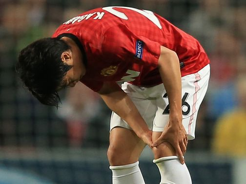 Shinji Kagawa: Twisted knee against Braga