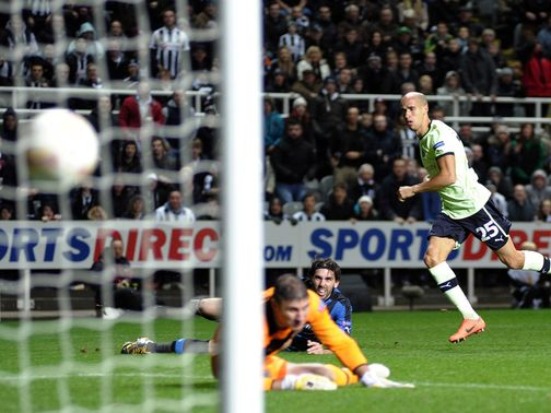 Obertan nets Newcastle&#39;s winning goal on Thursday night