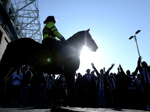 Police made 15 arrests at the Stadium of Light