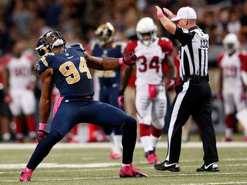 Robert Quinn celebrates one of his three sacks