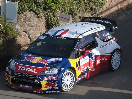 Sebastien Loeb in action on Friday