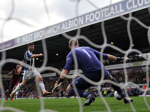 Shane Long nets against Manchester City