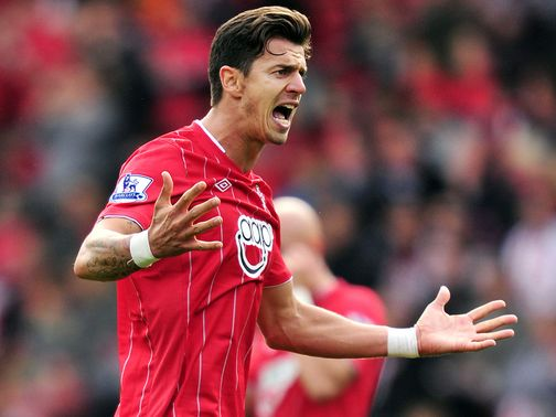 Jose Fonte celebrates his second goal against Fulham.