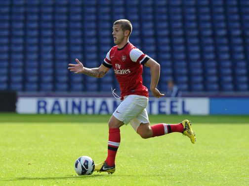 Wilshere: Played for Gunners&#39; U21 side