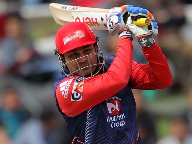 Virender Sehwag: Hit 95 not out from 57 balls