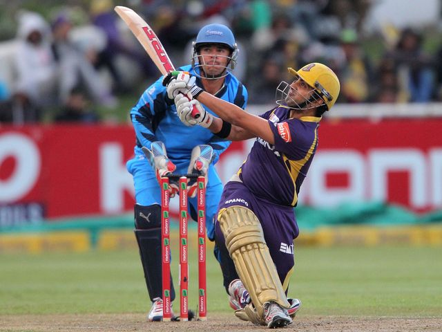 Gautam Gambhir on his way to a top score of 44