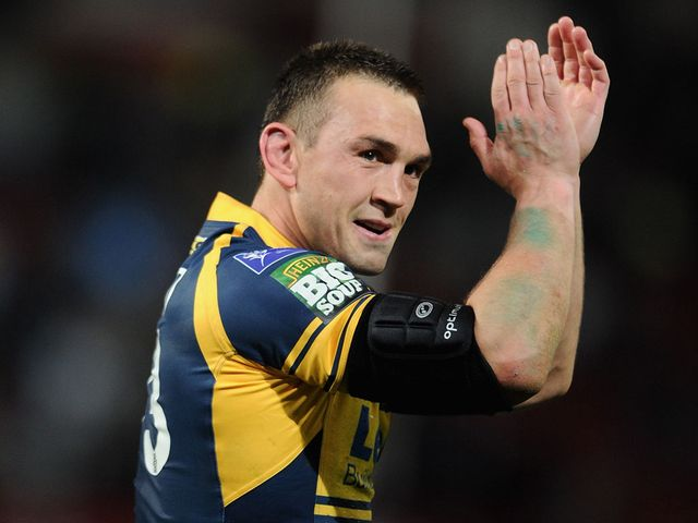 Kevin Sinfield celebrates.