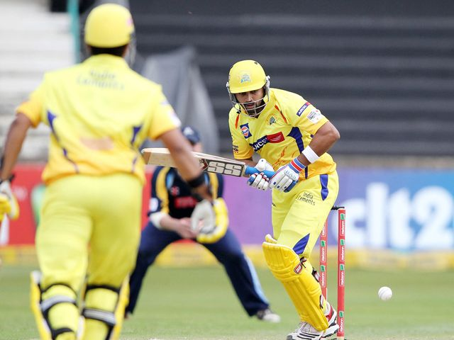 Murali Vijay in action against Yorkshire