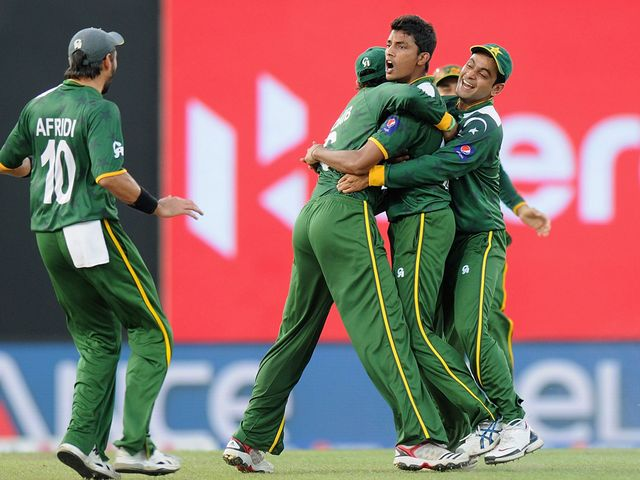 Pakistan celebrate their win