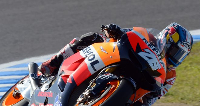 Dani Pedrosa: Claimed victory in Japan