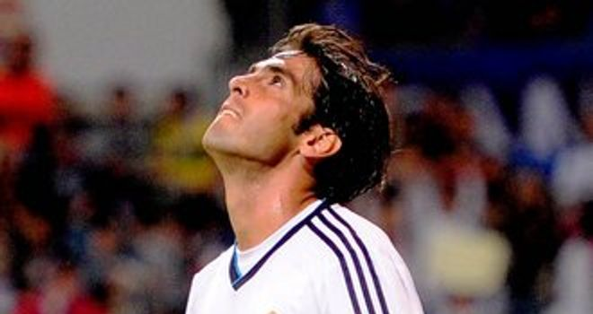 Kaka: Real Madrid playmaker has been linked with Corinthians and New York Red Bulls