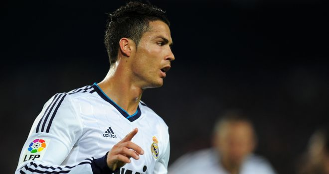 Eye am still the best: Cristiano Ronaldo managed to score for Real Madrid despite suffering a nasty injury to his left eye against Levante