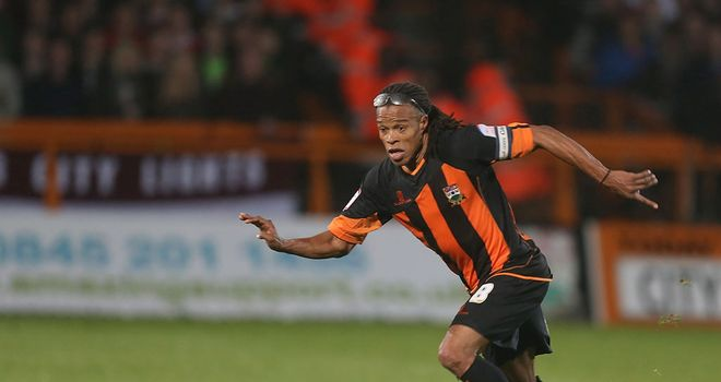 Edgar Davids: Saw red late on against Accrington